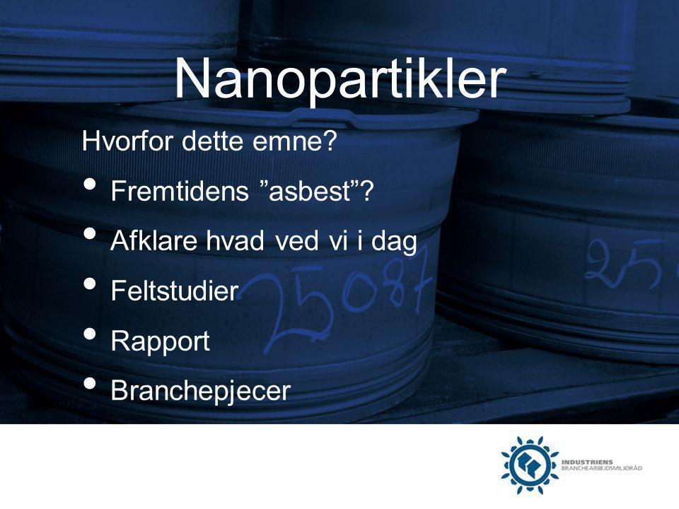 Nanopartikler Hvorfor dette emne Fremtidens asbest