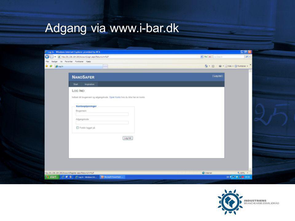 Adgang via www.i-bar.dk