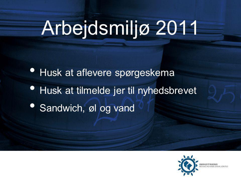 Arbejdsmiljø 2011 Husk at aflevere spørgeskema