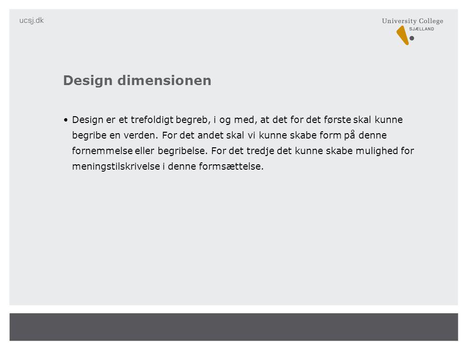 Design dimensionen