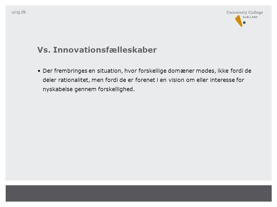 Vs. Innovationsfælleskaber