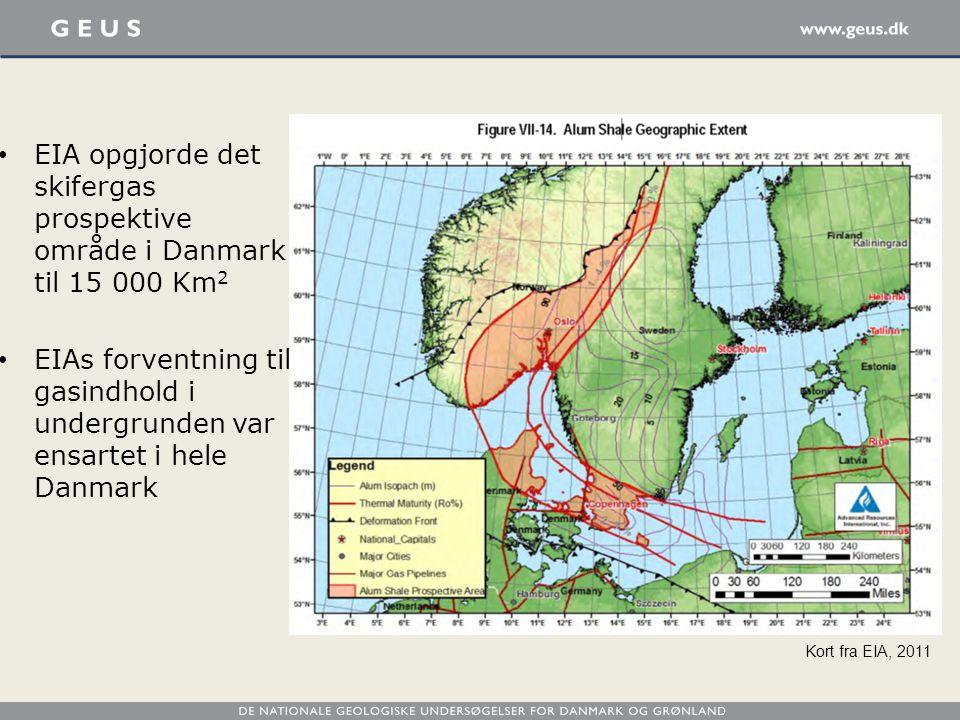 EIA opgjorde det skifergas prospektive område i Danmark til 15 000 Km2