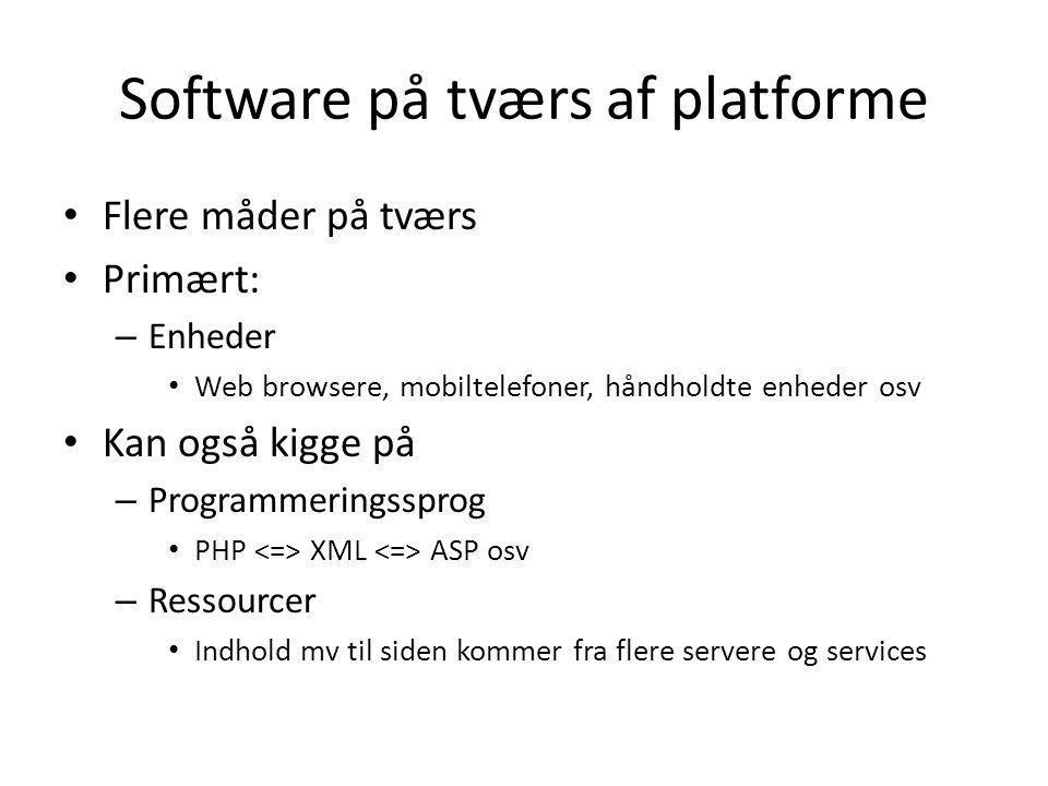 Software på tværs af platforme