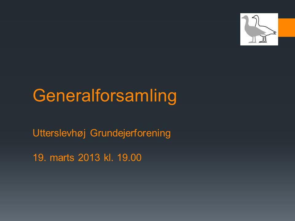 Generalforsamling Utterslevhøj Grundejerforening 19. marts 2013 kl. 19