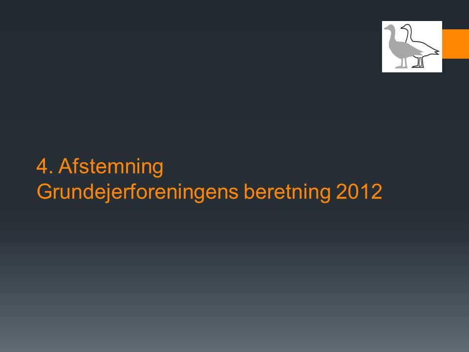4. Afstemning Grundejerforeningens beretning 2012