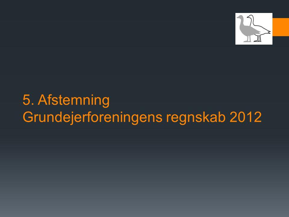 5. Afstemning Grundejerforeningens regnskab 2012