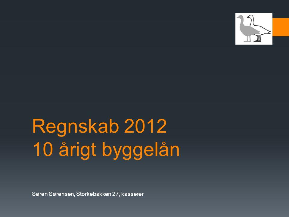 Regnskab 2012 10 årigt byggelån