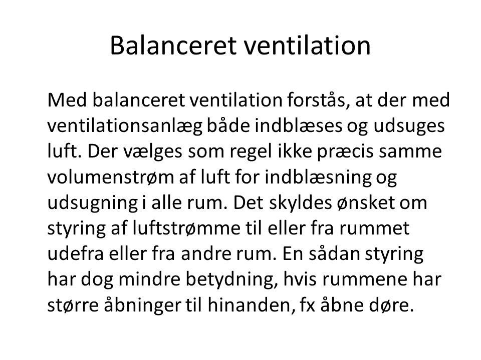 Balanceret ventilation