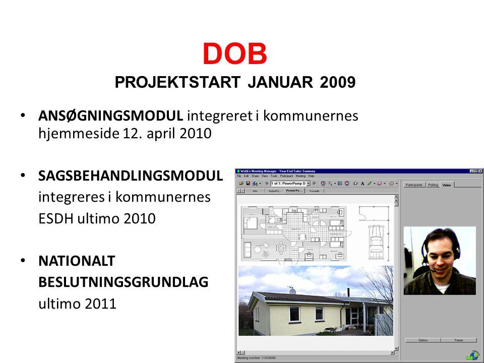 DOB PROJEKTSTART JANUAR 2009