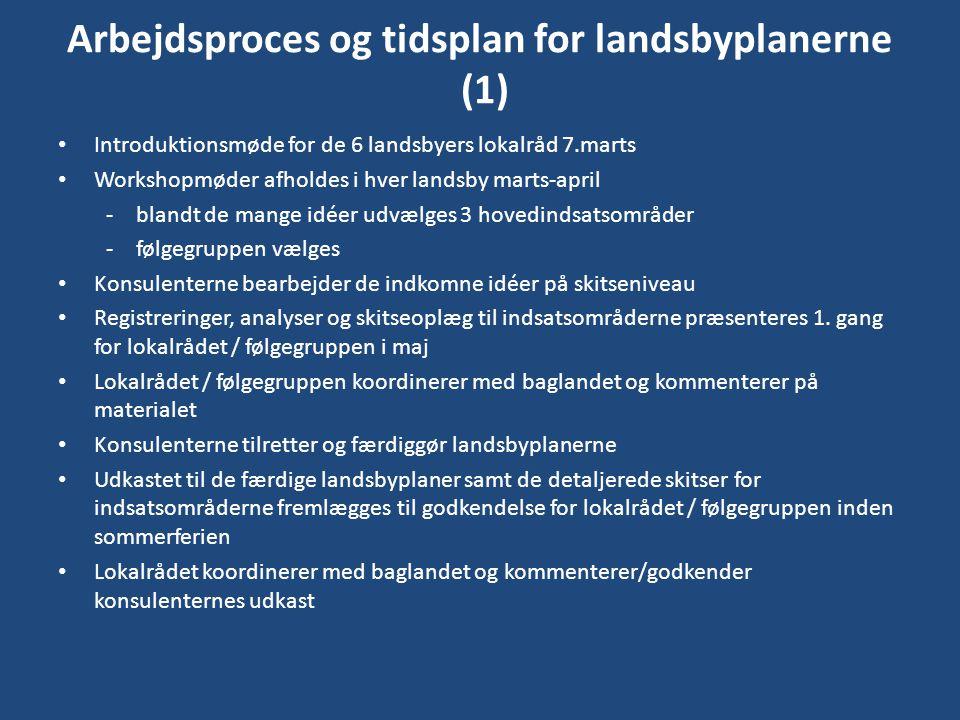Arbejdsproces og tidsplan for landsbyplanerne (1)