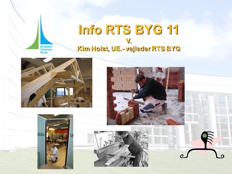 Info RTS BYG 11 V. Kim Holst, UE.- vejleder RTS BYG