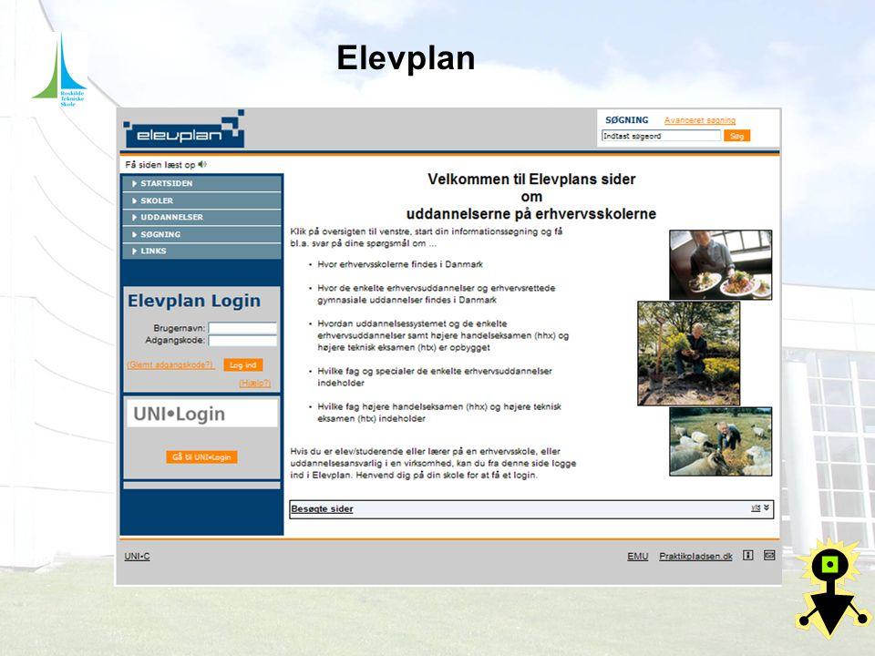 Elevplan Elevplan som vil være værktøjet vi styre efter og det er her man kan læse om de mål der skal nås.