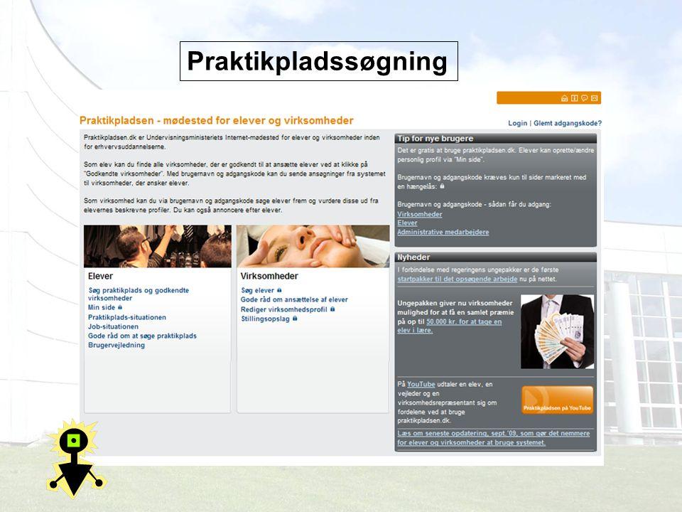 Praktikpladssøgning Praktikpladssen.dk stedet man finder de godkendte virksomheder efter postnummer.