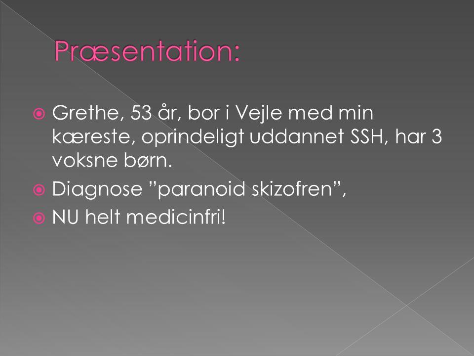 Præsentation: Grethe, 53 år, bor i Vejle med min kæreste, oprindeligt uddannet SSH, har 3 voksne børn.