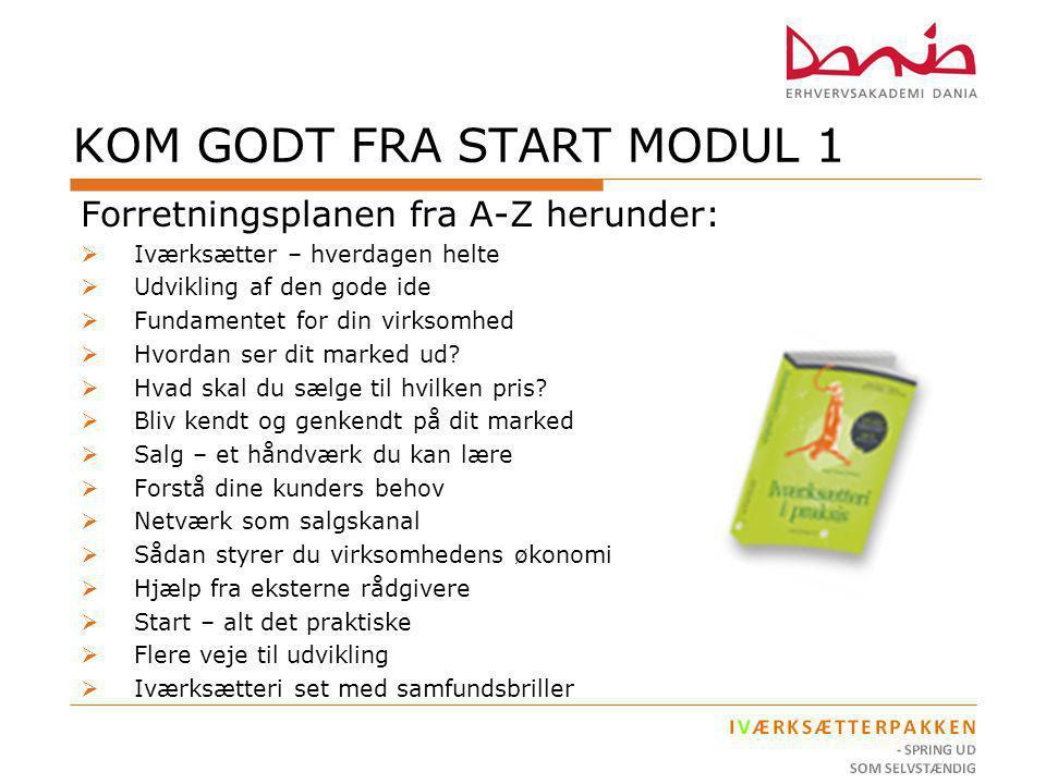 KOM GODT FRA START MODUL 1