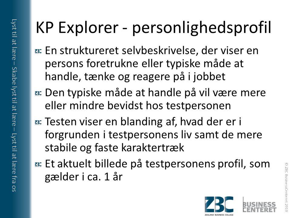 KP Explorer - personlighedsprofil