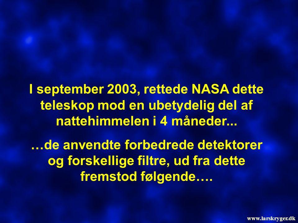 I september 2003, rettede NASA dette teleskop mod en ubetydelig del af nattehimmelen i 4 måneder...