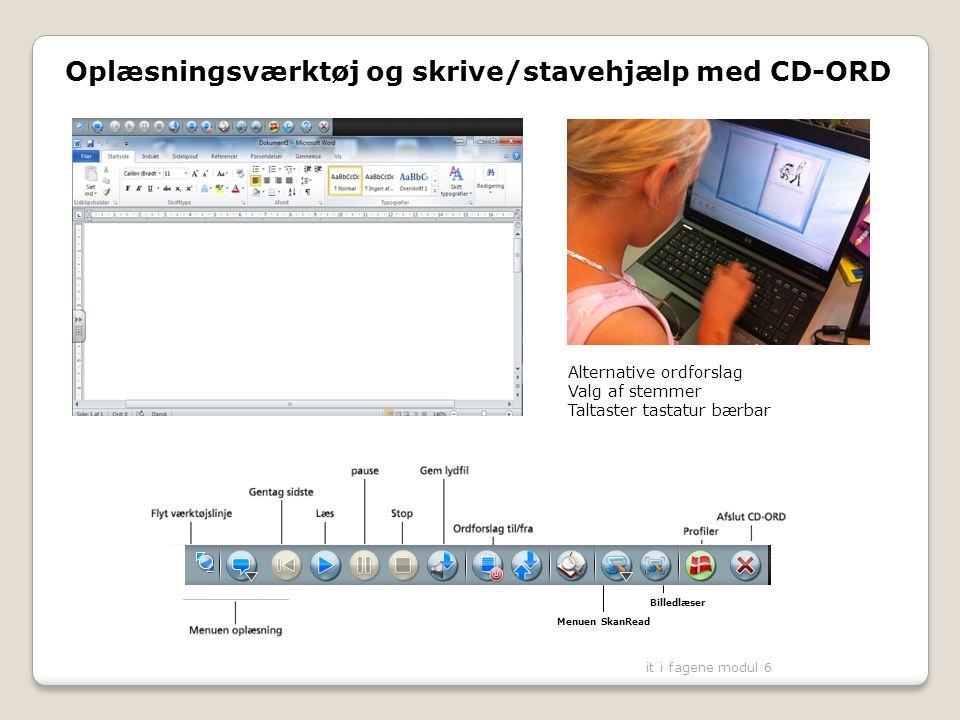 Oplæsningsværktøj og skrive/stavehjælp med CD-ORD