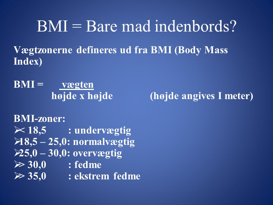 BMI = Bare mad indenbords