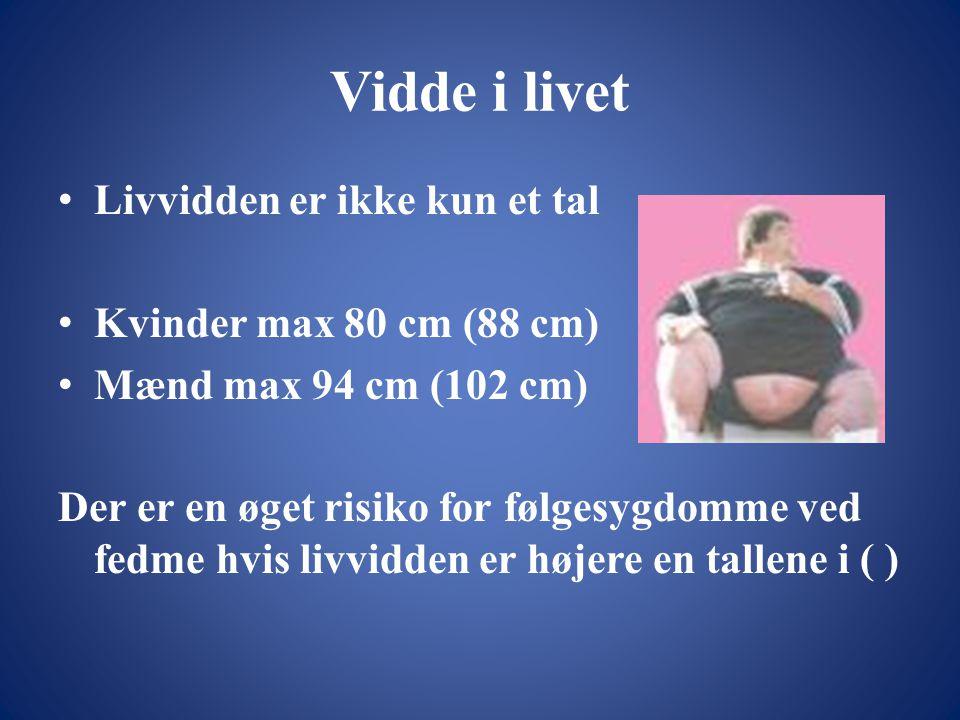 Vidde i livet Livvidden er ikke kun et tal Kvinder max 80 cm (88 cm)