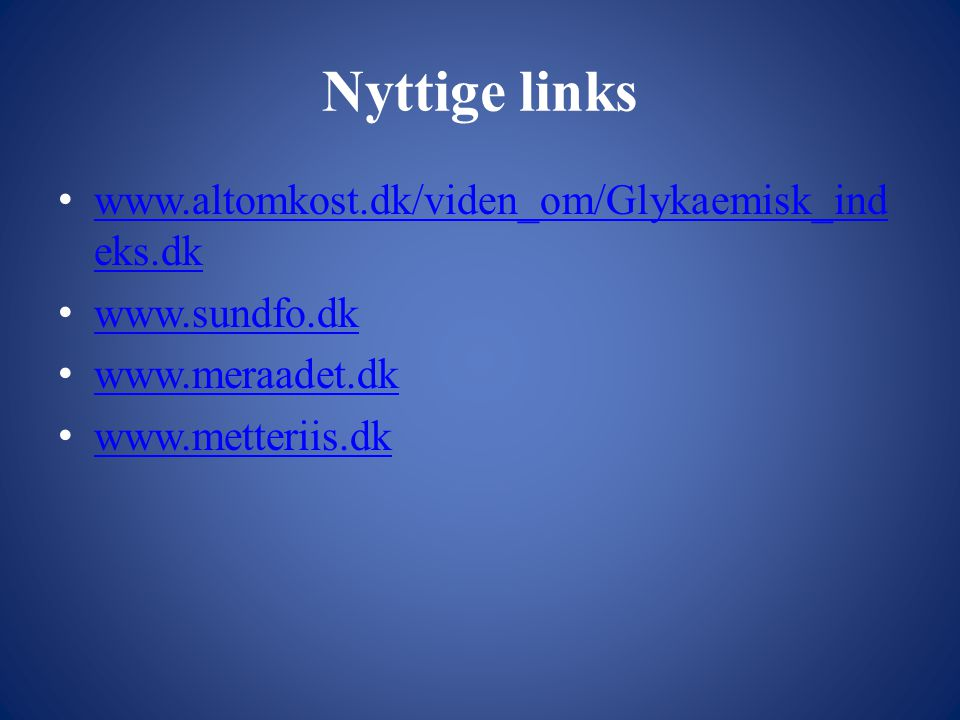 Nyttige links