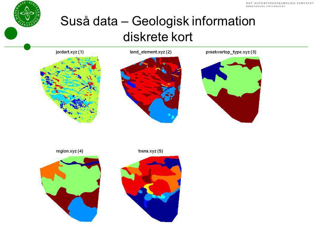 Suså data – Geologisk information diskrete kort