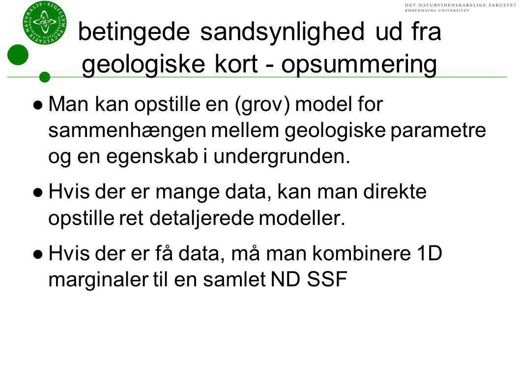 betingede sandsynlighed ud fra geologiske kort - opsummering