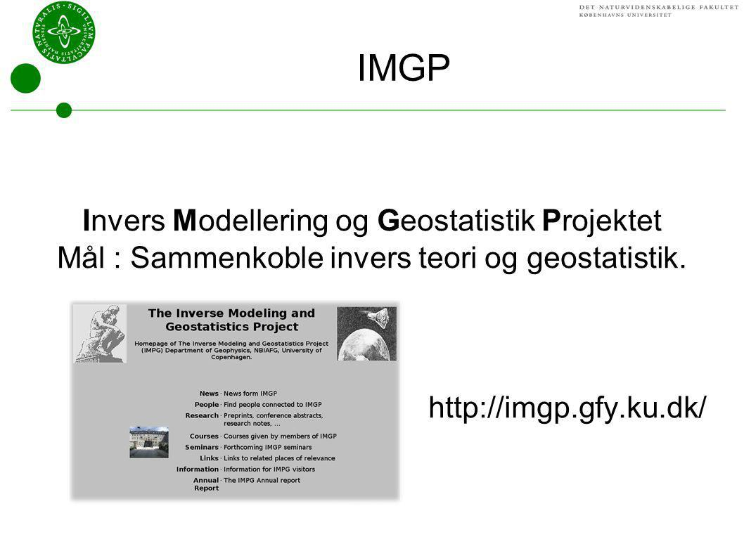 IMGP Invers Modellering og Geostatistik Projektet
