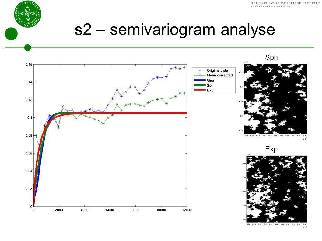 s2 – semivariogram analyse
