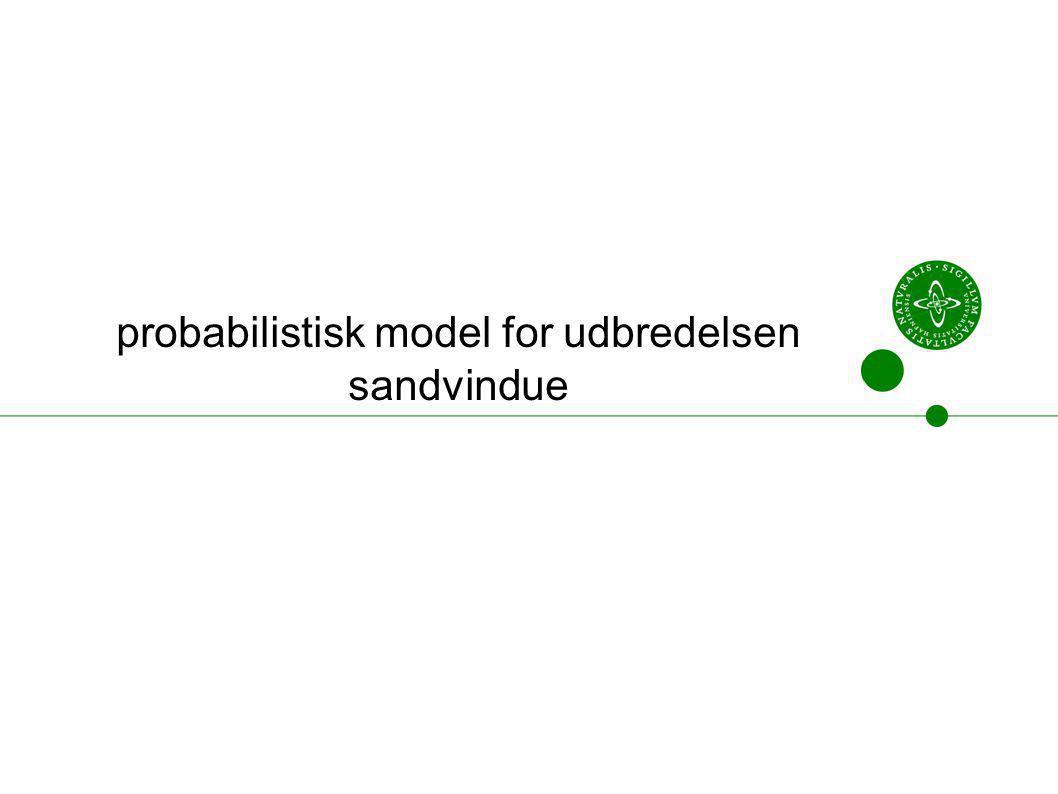 probabilistisk model for udbredelsen sandvindue