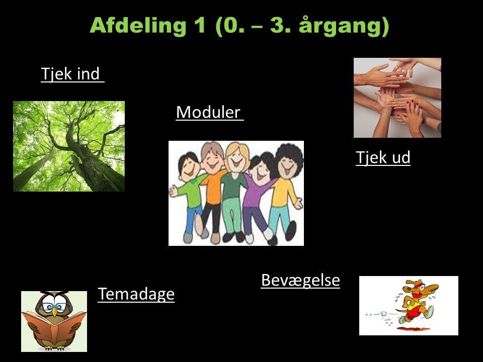 Afdeling 1 (0. – 3. årgang) Tjek ind Moduler Tjek ud Bevægelse