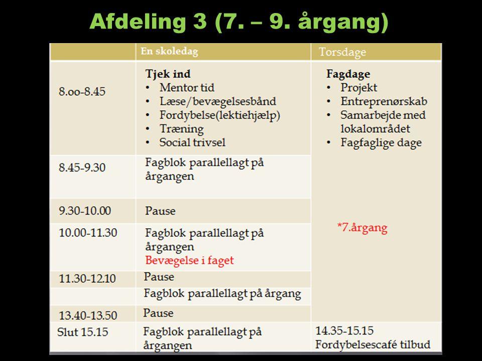 Afdeling 3 (7. – 9. årgang)