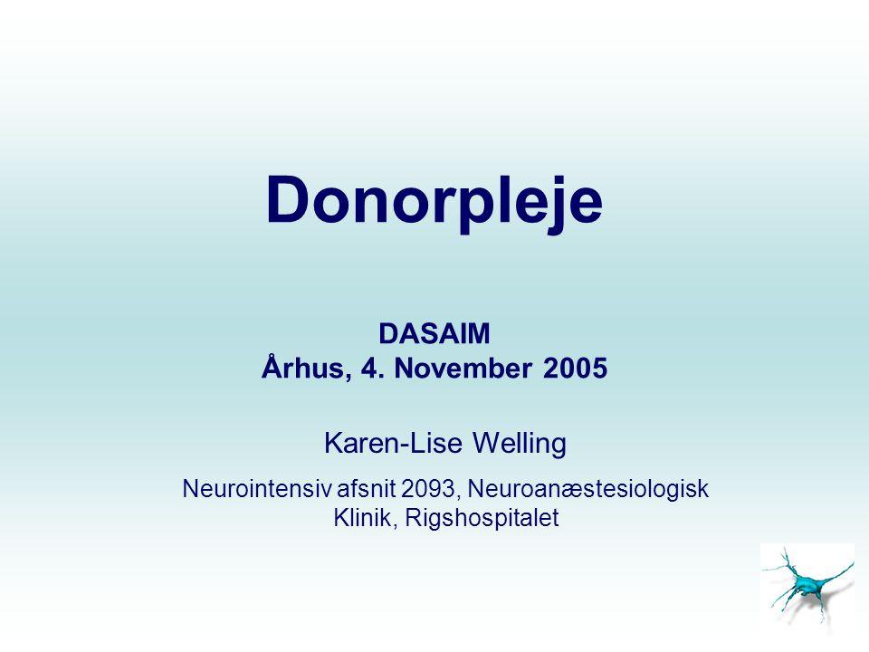 Donorpleje DASAIM Århus, 4. November 2005