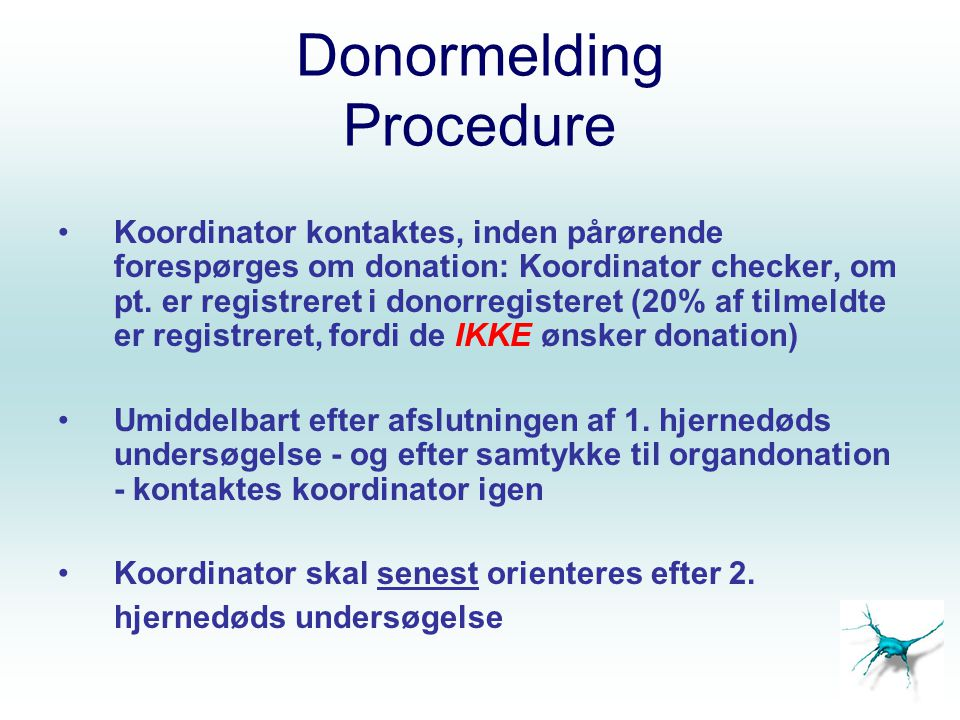 Donormelding Procedure