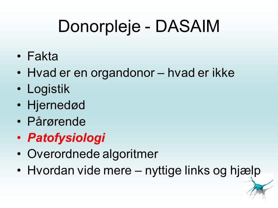 Donorpleje - DASAIM Fakta Hvad er en organdonor – hvad er ikke
