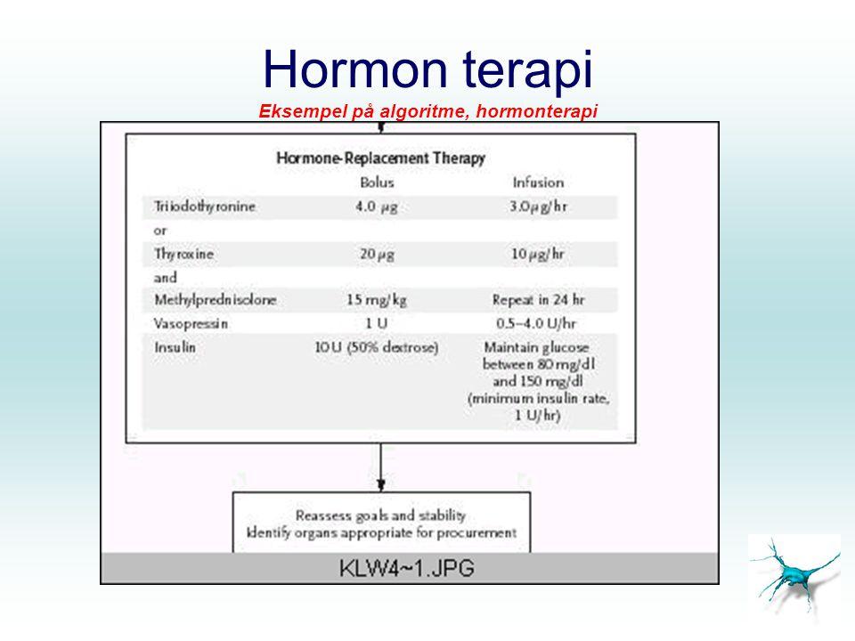 Hormon terapi Eksempel på algoritme, hormonterapi