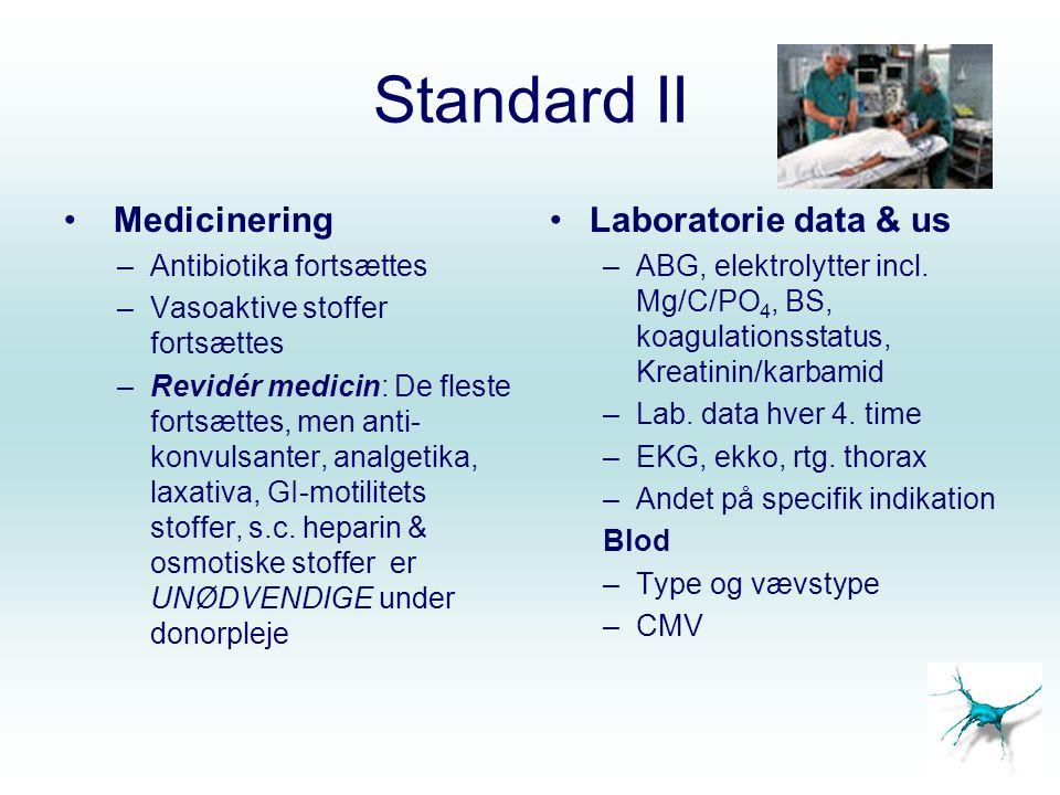 Standard II Medicinering Laboratorie data & us Antibiotika fortsættes