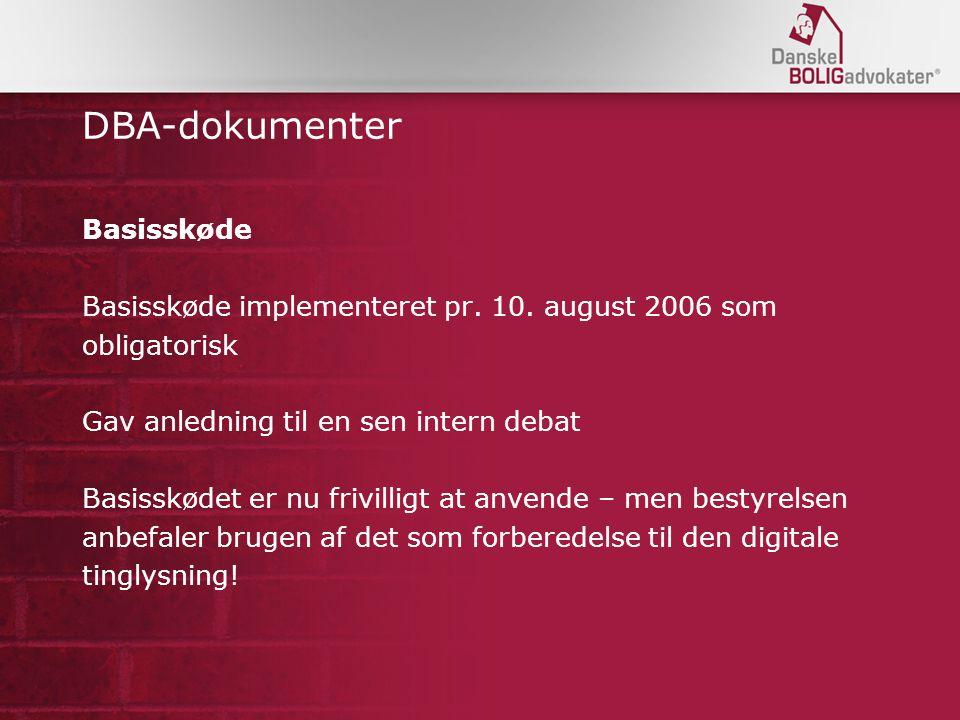 DBA-dokumenter Basisskøde