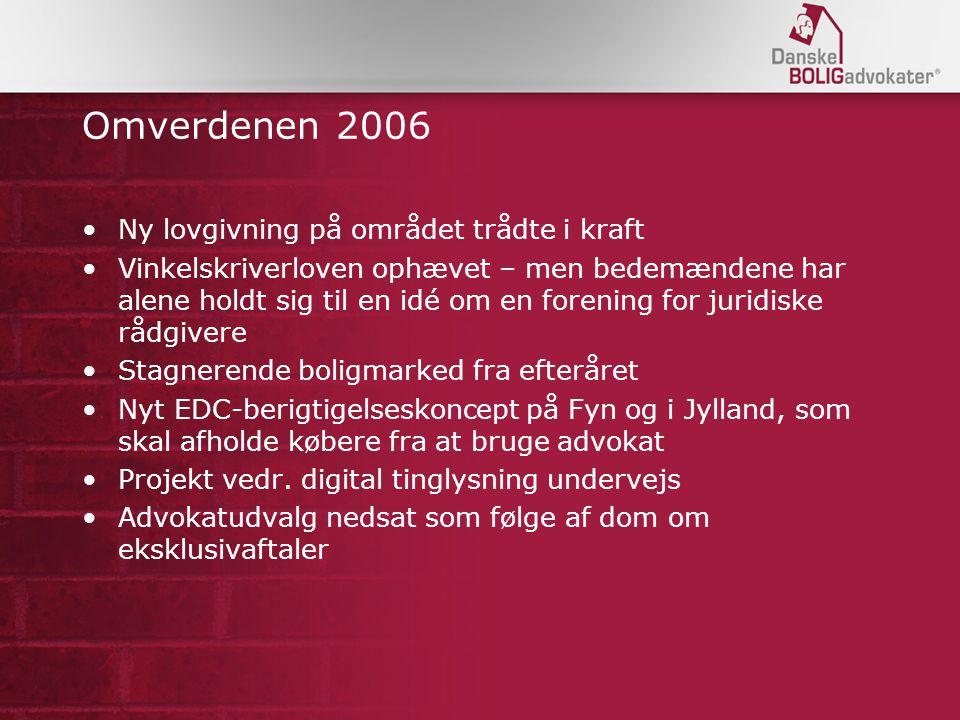Omverdenen 2006 Ny lovgivning på området trådte i kraft