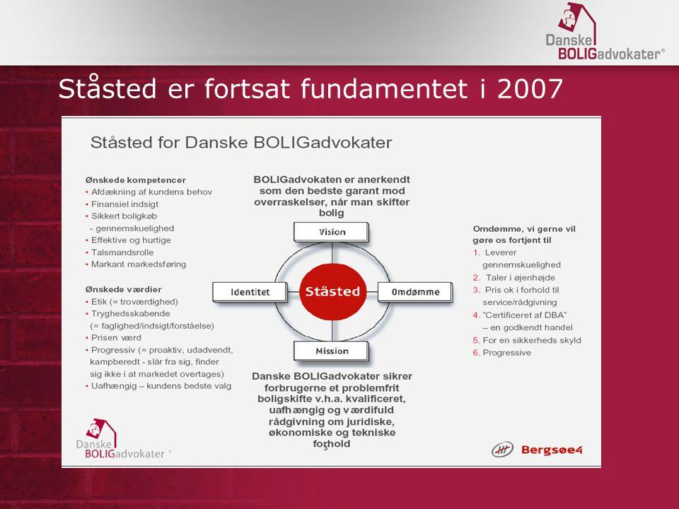 Ståsted er fortsat fundamentet i 2007
