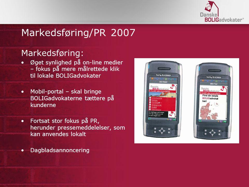 Markedsføring/PR 2007 Markedsføring: