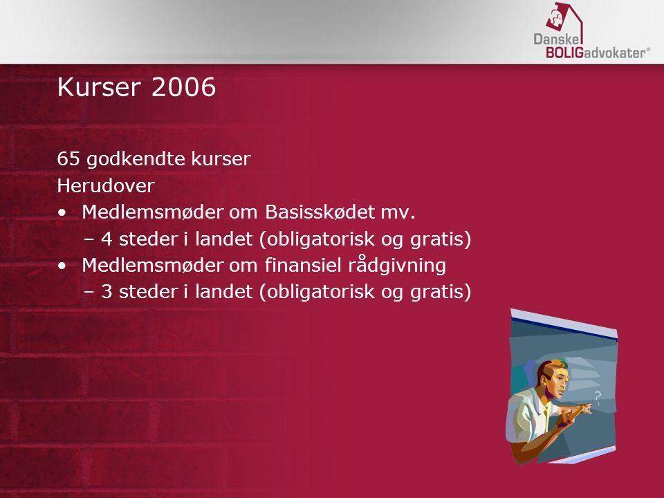 Kurser 2006 65 godkendte kurser Herudover