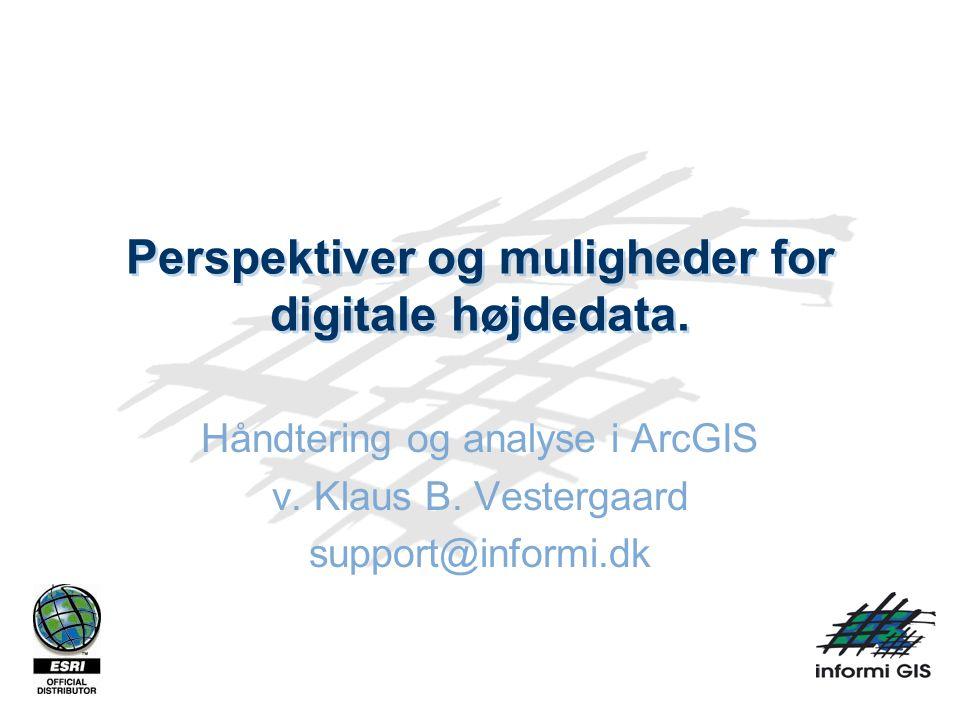 Perspektiver og muligheder for digitale højdedata.