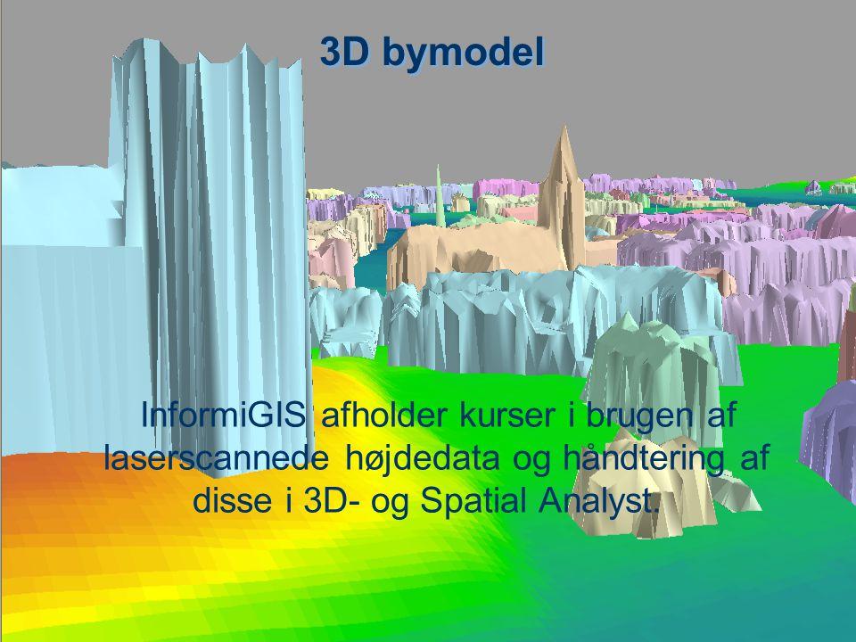 3D bymodel InformiGIS afholder kurser i brugen af laserscannede højdedata og håndtering af disse i 3D- og Spatial Analyst.