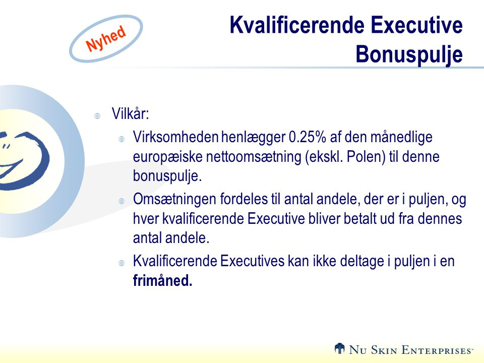 Kvalificerende Executive Bonuspulje