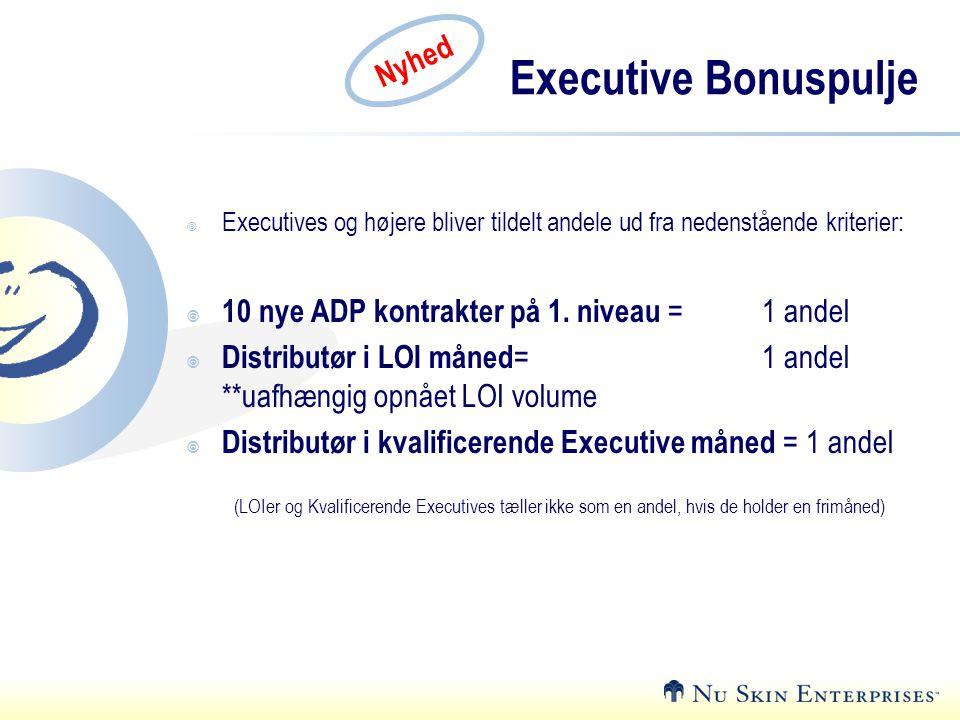 Executive Bonuspulje Nyhed