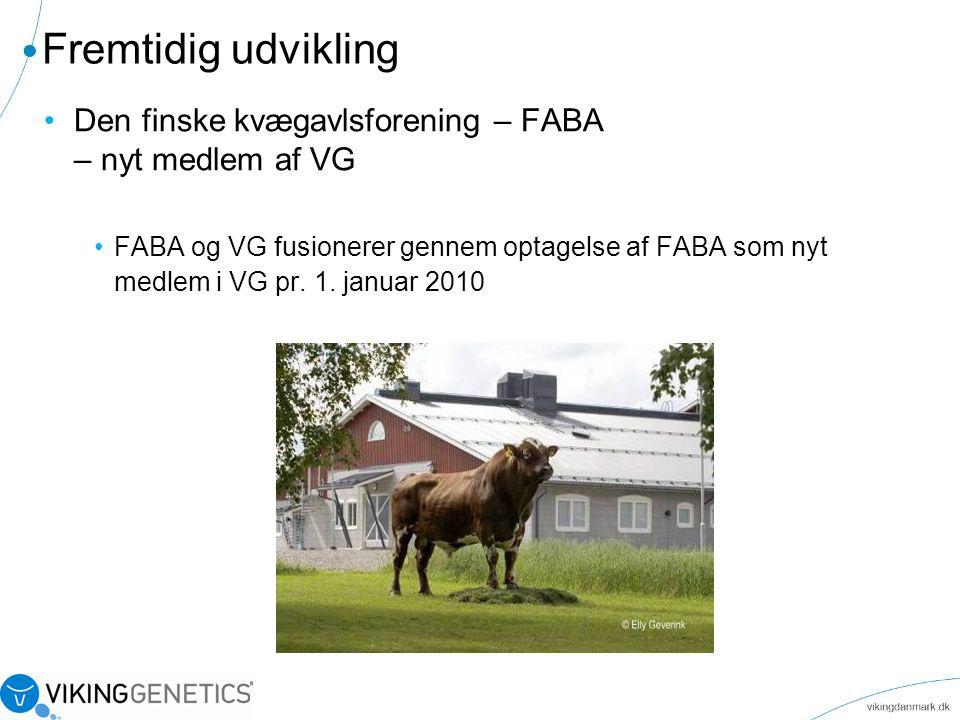 Fremtidig udvikling Den finske kvægavlsforening – FABA – nyt medlem af VG.