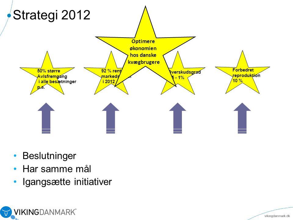 Strategi 2012 Beslutninger Har samme mål Igangsætte initiativer