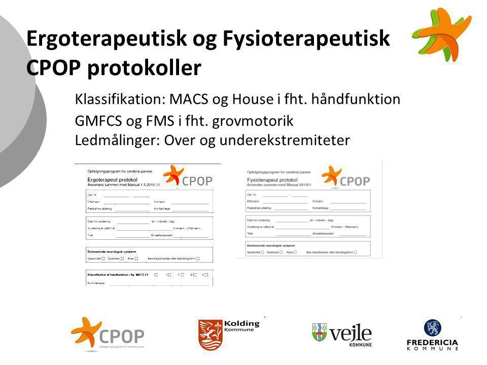 Ergoterapeutisk og Fysioterapeutisk CPOP protokoller