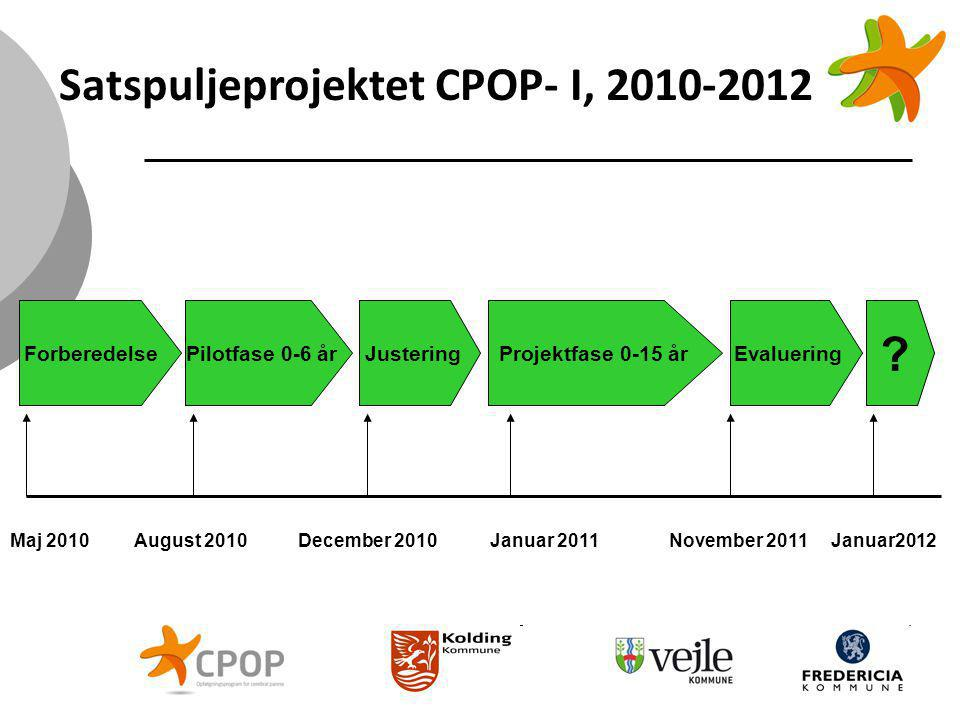 Satspuljeprojektet CPOP- I, 2010-2012